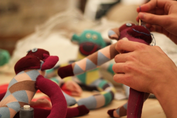Join us for making your own sock monkey. Maybe the perfect Christmas gift for your loved ones? http://goo.gl/A9JUa